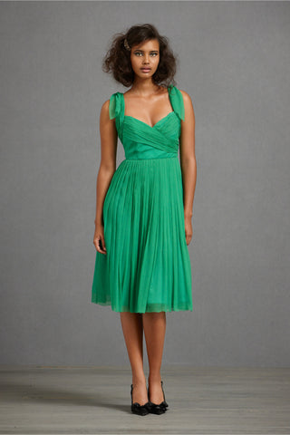 Sway-And-Swirl Dress - Green Front
