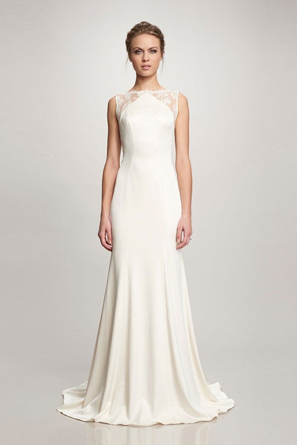 Theia 890068 Taylor Lace Crepe Wedding Gown - Adinas Bridal
