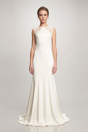Theia 890068 Taylor Lace Crepe Wedding Gown