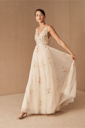 BHLDN Needle & Thread Petunia Gown