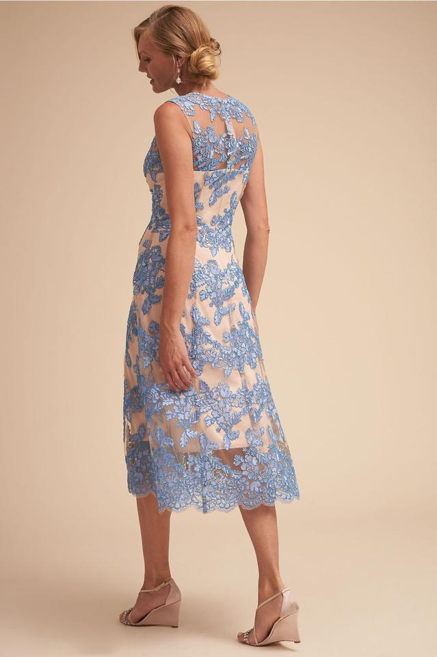 BHLDN Tonya Dress - Blue and Tan