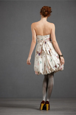 BHLDN Floral Twirled Sweetheart Dress Back
