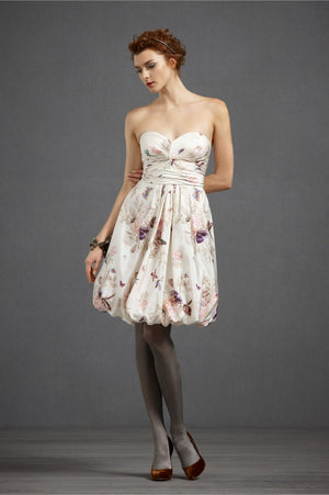 BHLDN Floral Twirled Sweetheart Dress Main