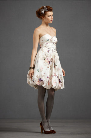 BHLDN Floral Twirled Sweetheart Dress Side