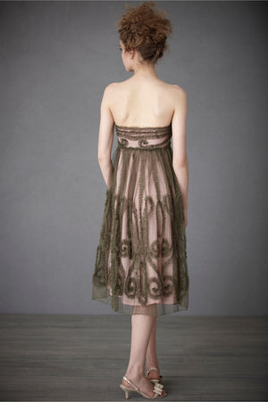 BHLDN Emerald Mist Dress Back