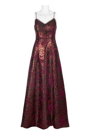 Aidan Mattox Metallic Jacquard Gown - Copper