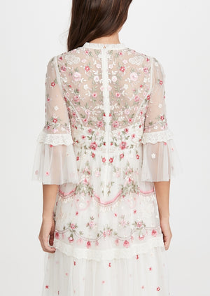BHLDN Needle & Thread Butterfly Meadow Mini Dress