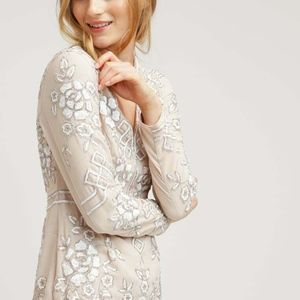 BHLDN Needle & Thread Lake Graphic Rose Gown