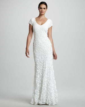 Theia Danielle White Petal Gown 881131