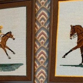horse needlepoint equestrian themed needlepoint canvas by bonnie alexander