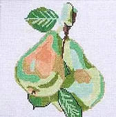 Green Pears Coaster