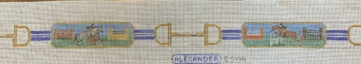 bonnie alexander needlepoint belt 4 vignettes of show hunters belt