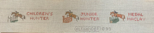 bonnie alexander needlepoint belt canvas horses hunter horse