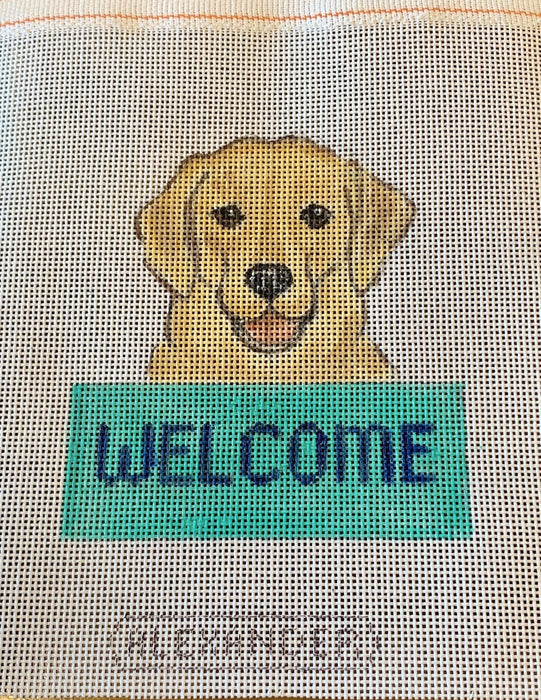 Welcome Sign - Yellow Lab