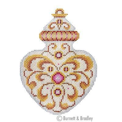 White & Gold Ornament - Light Rose Jewels