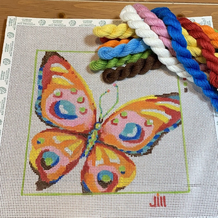 butterfly needlepoint canvas