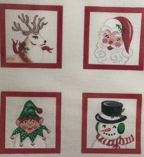 Set of 4 Coasters – Christmas characters