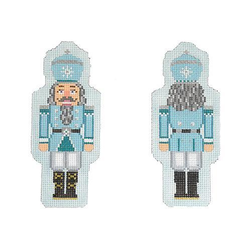 Double-Sided Nutcracker Ornament - Light Blue