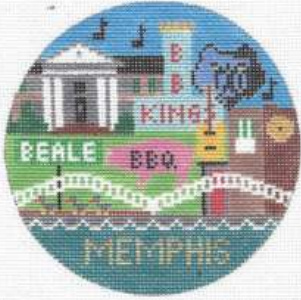 Memphis, TN round ornament