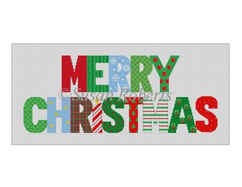 """Merry Christmas"" patchwork"