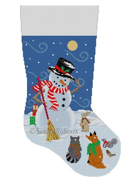 Windy snow Gifts Snowman, stocking