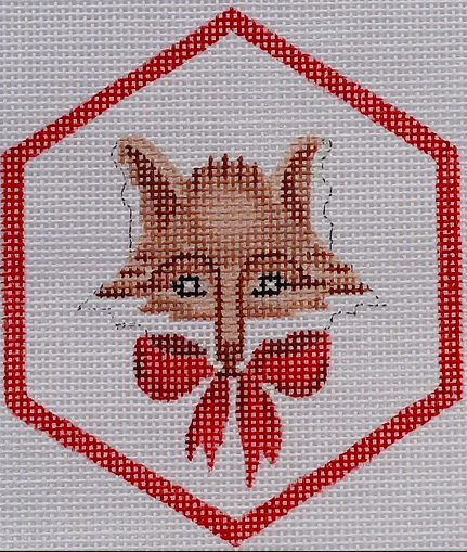 Christmas Ornament – Fox w/ Red Bow