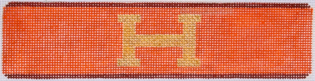 Cuff – Hermès H – orange, brown & gold