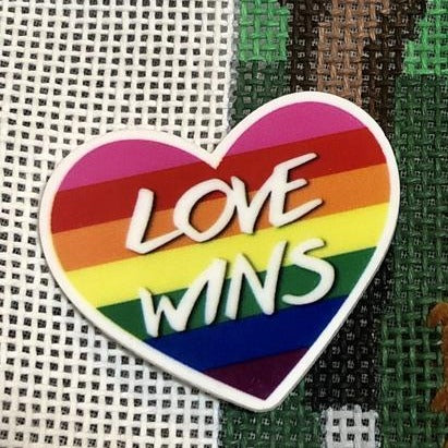 rainbow heart love wins needleminder needlepoint accessory