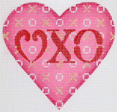 Valentine Mini Heart – Love XO – pinks, red, silver & gold