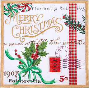 Christmas Collage #2 – w/ Holly & Peppermints