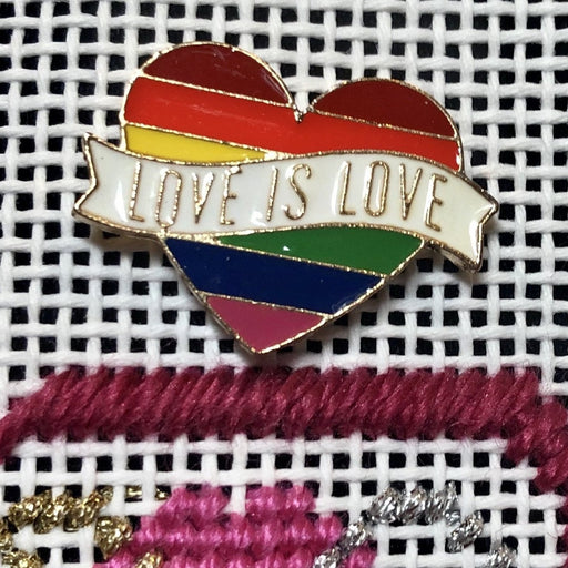 rainbow heart needleminder needlepoint supply