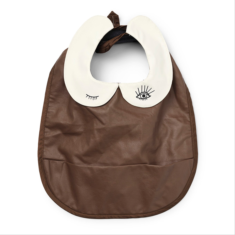 Baby Bib - faux leather