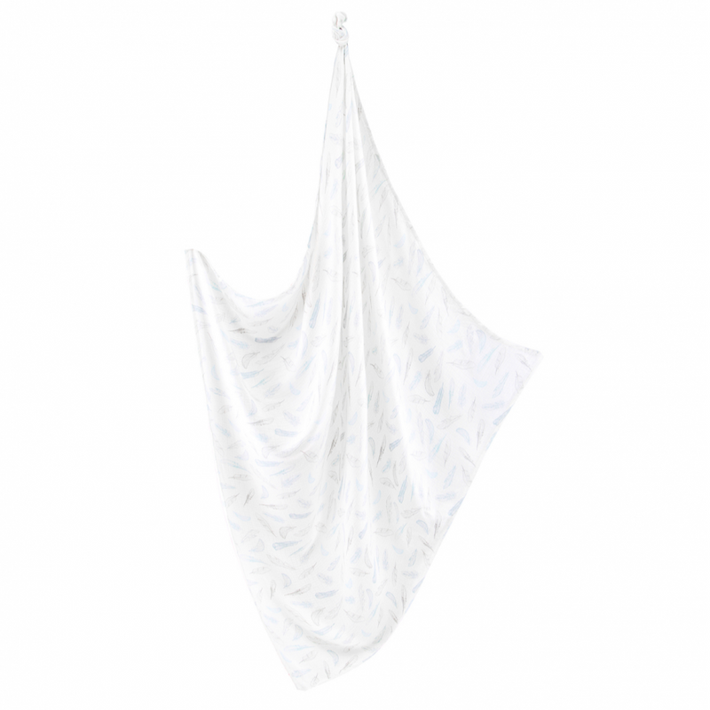 Bamboo Muslin Swaddle - heavenly feathers