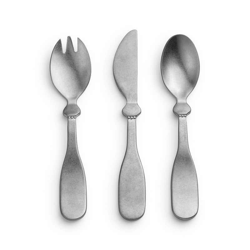 Besteck-Set für Kinder - antique silver