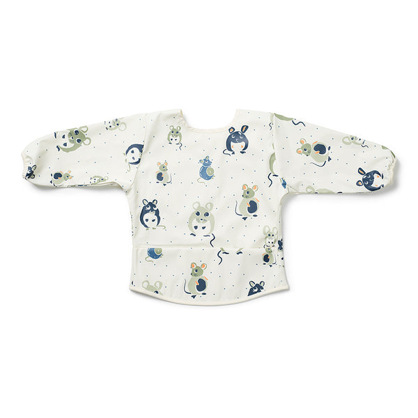 Langärmeliges Baby Bib - forest mouse