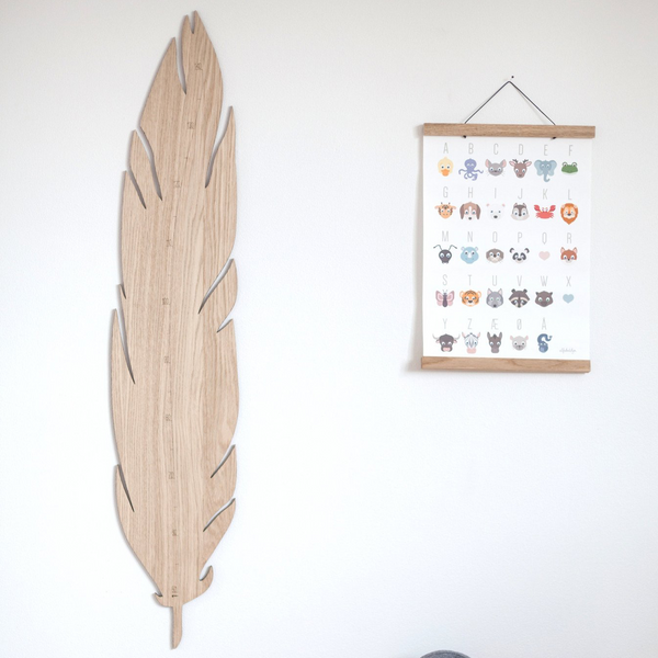 "Kinder-Messlatte ""Feather Growth Chart"