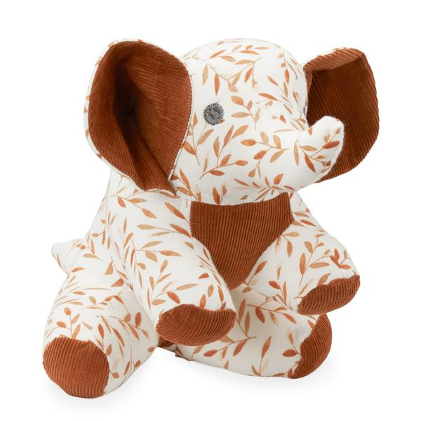 Elephant Soft Toy - caramel leaves
