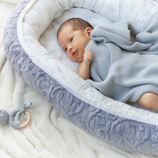 Baby-Nest Heavenly - feathers grey