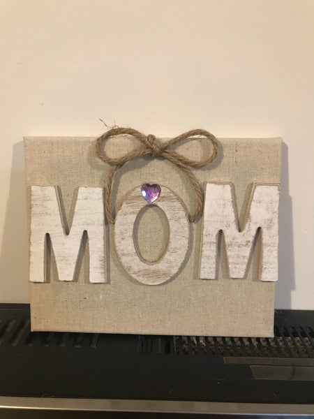 Canvas Mom Sign