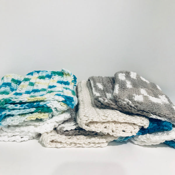 Crochet Dishcloths - Set of 3