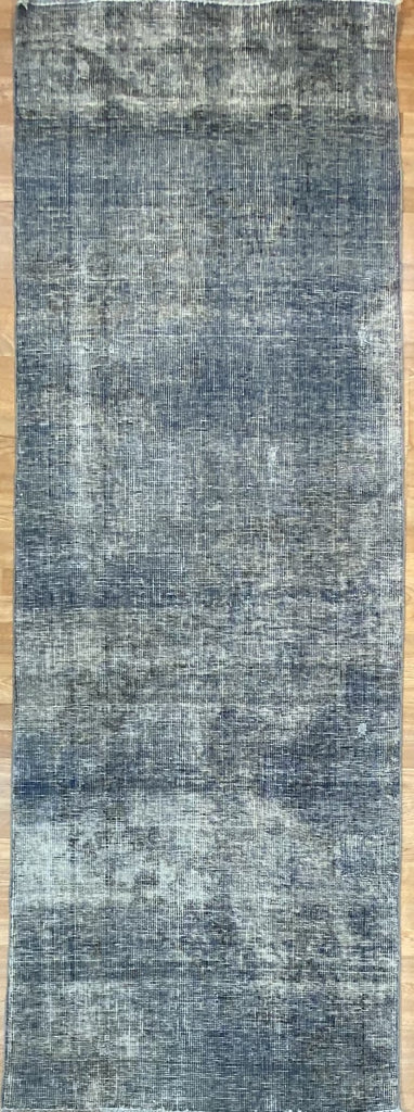 "Overdyed Tabriz Runner - 3' x 8'11"" ft."