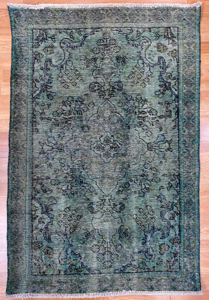 "Overdyed Tabriz - 3'3"" x 4'7"" ft."