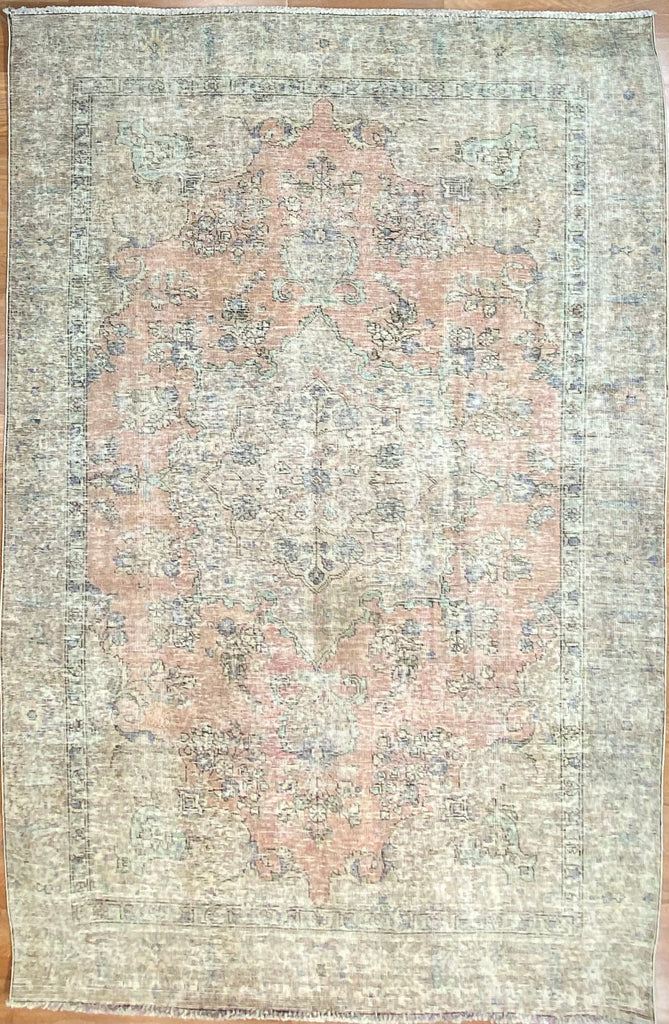 "Vintage Overdyed Tabriz - 6' x 8'11"" ft."