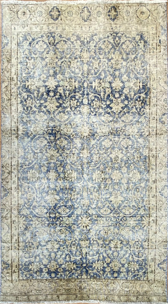 "Vintage Overdyed Tabriz - 3'9"" x 6'8"" ft."