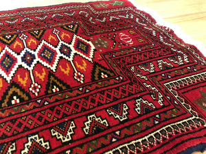 Beautiful Balouch - 1980s Antique Prayer Rug - Persian Carpet - 2' x 3' ft.