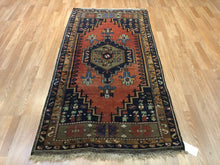 "Load image into Gallery viewer, Tranquil Turkish - 1960s Vintage Tribal Rug - Oriental Carpet - 3'4"" x 6'10"" ft."