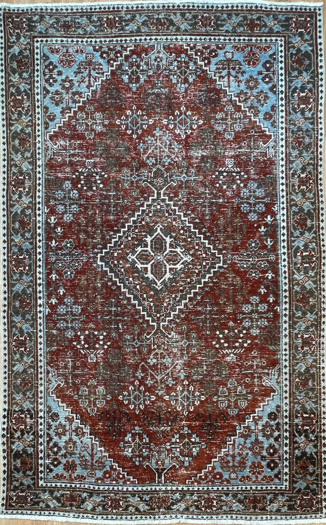 "Jovial Josheghan - 1920s Antique Persian Rug - Tribal Carpet - 4'8"" x 5'8"" ft."