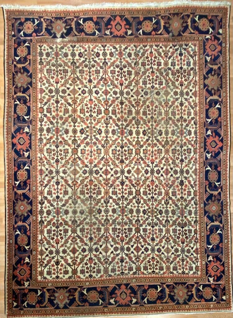 "Magnificent Mahal - 1900s Antique Persian Rug - Tribal Carpet - 8'9"" x 11'2"" ft."