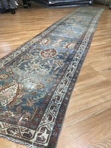 "Marvelous Mahal - 1900s Antique Sultanabad Rug - Tribal Runner - 2'10"" x 16' ft"