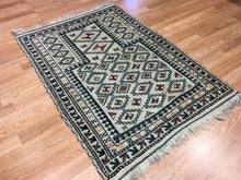 "Load image into Gallery viewer, Beautiful Balouch - 1930s Antique Prayer Rug - Tribal Ivory Carpet - 2'11"" x 4' ft."